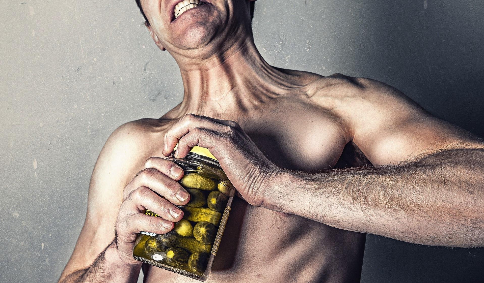 man with pickle jar medicare supplement